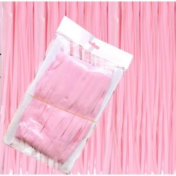 Kurtyna pastelowa, różowa / 1,0 m x 2,0 m