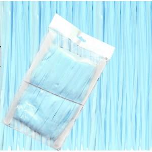 Kurtyna pastelowa, niebieska / 1,0 m x 2,0 m