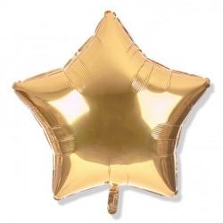 Balon gwiazdka 45 cm / foliowy / platynowe złoto