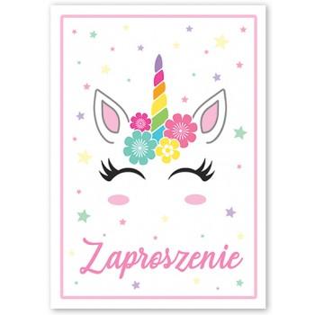 Zaproszenie na urodziny Jednorożec 10 szt.