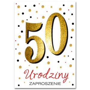 Zaproszenie brokatowane na 50 / 10 szt.