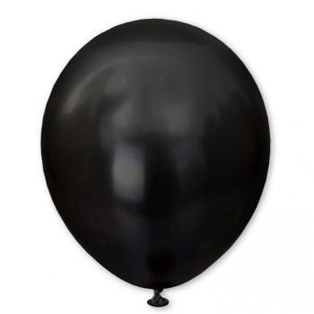 Balon metaliczny 30 cm BLACK czarny / mocny/100 szt.