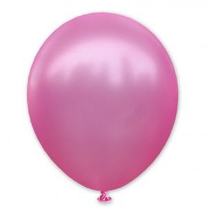 Balon metaliczny 30 cm PINK różowy / mocny /100 szt.