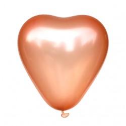 Balon serce 30 cm,  ROSE GOLD, różowe złoto 100 szt.