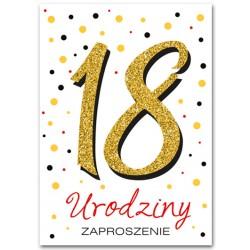 Zaproszenie brokatowane /18 lat / 10 szt.