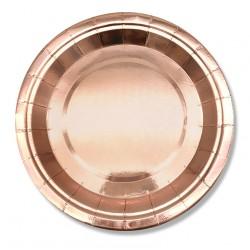 Talerzyk/talerzyki Wieczór Panieński, Rose Gold, różowe złoto 10 szt.