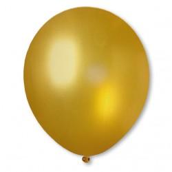 Balon metaliczny 30 cm GOLD złoty / mocny/100 szt.