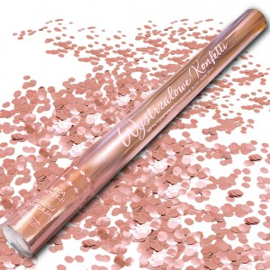 Wystrzałowe konfetti 60 cm / metaliczne kółeczka, różowe złoto / ROSE GOLD