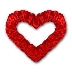 Serce z połyskiem czerwone 50 cm