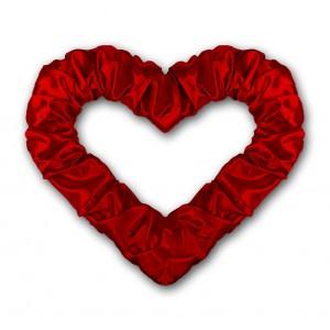Serce z połyskiem bordowe 50 cm