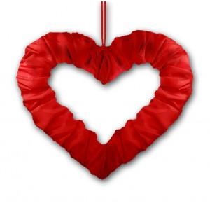 Serce z tasiemką czerwone 50 cm