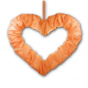 Serce z tasiemką łososiowe 50 cm