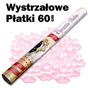 Wystrzałowe konfetti / wyrzutnia płatków 60 cm (różowe)