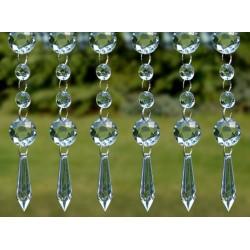 """Girlanda """"kryształowa"""" + stożek, przeźroczysta 100 cm"""