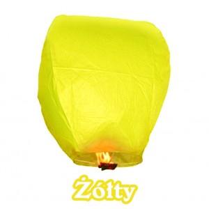 Lampion szczęścia żółty owalny 38*58*103 cm