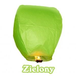 Lampion szczęścia zielony owalny 38*58*103 cm