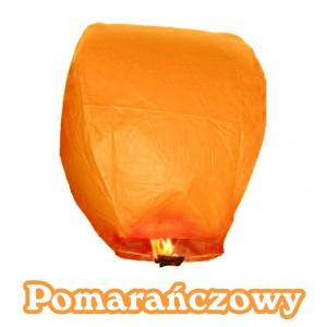 Lampion szczęścia pomarańczowy owalny 38*58*103 cm