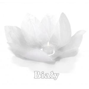 Lampion pływający / biały kwiat lotosu