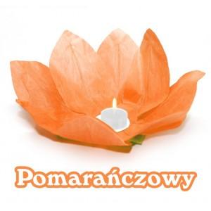 Lampion pływający / pomarańczowy kwiat lotosu