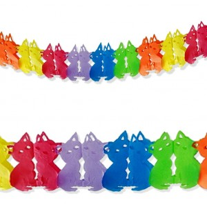 Girlanda kolorowe kotki 3 m