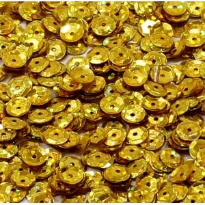 Cekiny laserowe złote łamane 6 mm /15 g