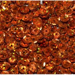 Cekiny laserowe pomarańczowe łamane 6 mm /15 g