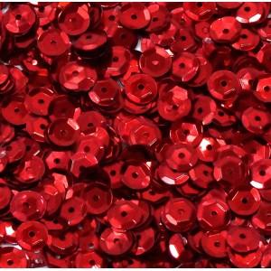 Cekiny metaliczne czerwone łamane 6 mm /15 g