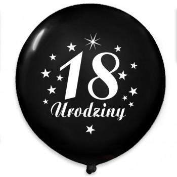 """Balon urodzinowy NAPIS / """"18"""" czarny 100 szt."""