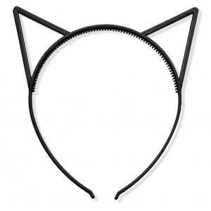 Uszy kotka czarne/ kotek / opaska do włosów