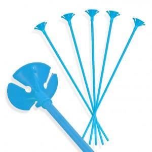 Patyczki do balonów/ niebieskie 30 cm /100 szt.