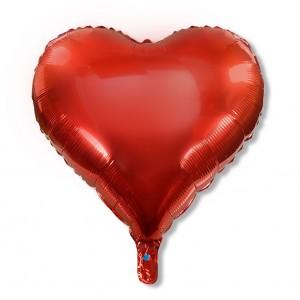 Balon serce 60 cm / foliowy / czerwony