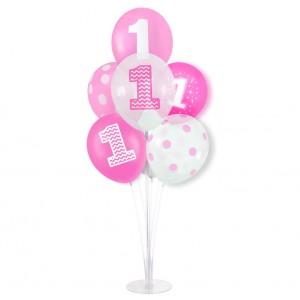 """Balon cyfra różowe złoto """"1"""" 40 cm"""