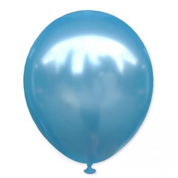 Balon metaliczny 30 cm BLUE niebieski / mocny/100 szt.