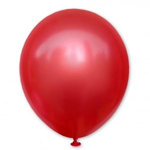 Balon metaliczny 30 cm RED czerwony / mocny /100 szt.