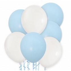 Balon przeźroczysty / piankowe kuleczki fuksja 100 szt.