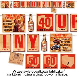 40,50,60 lub dowolne Urodziny / baner PRL 200 cm