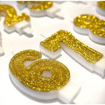 18, 1 lub 8 URODZINY metaliczne złoto / baner 100cm