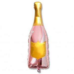 Balon szampan do wypisu 105 cm / rose gold / różowe złoto / foliowy