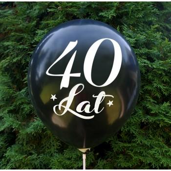 """Balon urodzinowy / """"40 lat"""" metaliczny czarny 100 szt."""