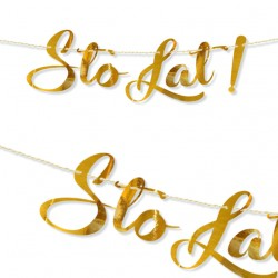 STO LAT metaliczne złoto / baner 60 cm
