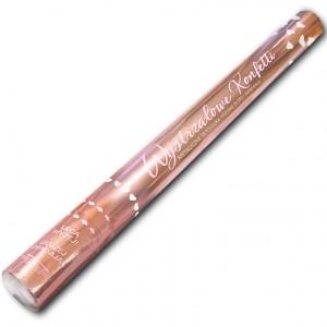 Wystrzałowe konfetti / metalicznie serduszka różowe złoto / ROSE GOLD konfetti 60 cm
