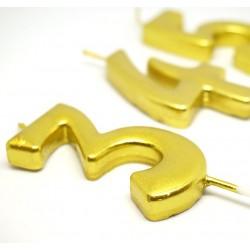 Balon przeźroczysty / konfetti serca różowe złoto/rose gold 100 szt.