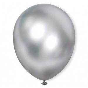 Balon chromowany 30 cm SILVER / srebrny / 100 szt.