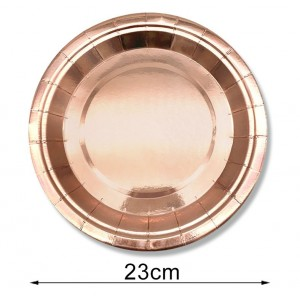 Talerzyk/talerzyki Wieczór Panieński, Rose Gold, różowe złoto 23 cm / 10 szt.