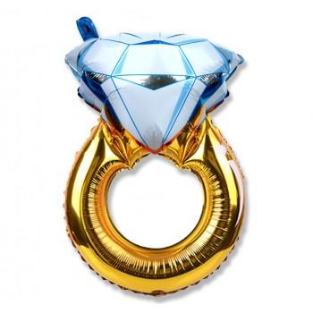 Pierścionek zaręczynowy XL / diament / balon foliowy 68 cm