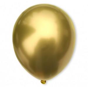 Balon chromowany 30 cm GOLD / złoty / 100 szt.