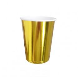 Kubek/kubeczek papierowy Gold / złoty 10 szt.