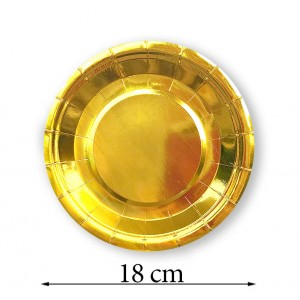 Talerzyk/talerzyki złoty/ gold 18 cm / 10 szt.
