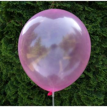 Balon krystaliczny różowy 30 cm  /100 szt.