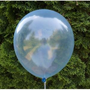 Balon krystaliczny niebieski 30 cm  /100 szt.